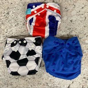 Charlie Banana & Baby Goal reusable diapers